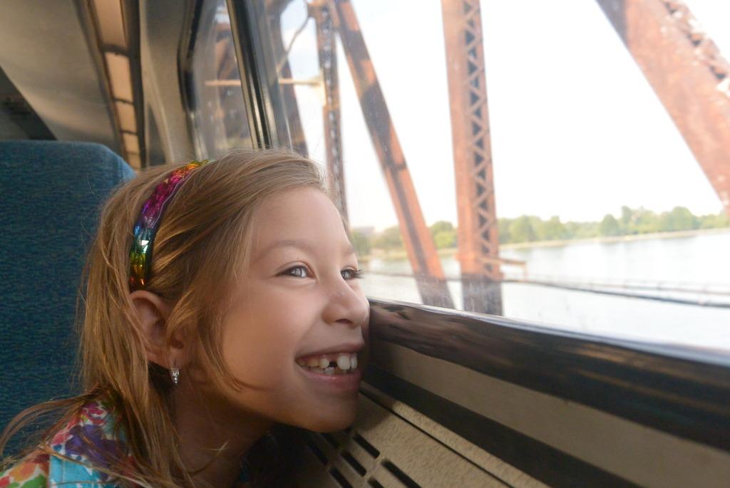 #Viaje #famialia #tren #amtrak # niña #vacaciones