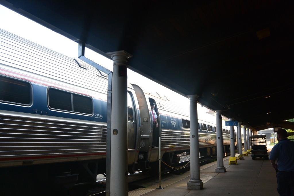 Estación de tren Amtrak en Alexandria.