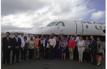 Inaugura vuelo San Juan Anguila con Seaborne