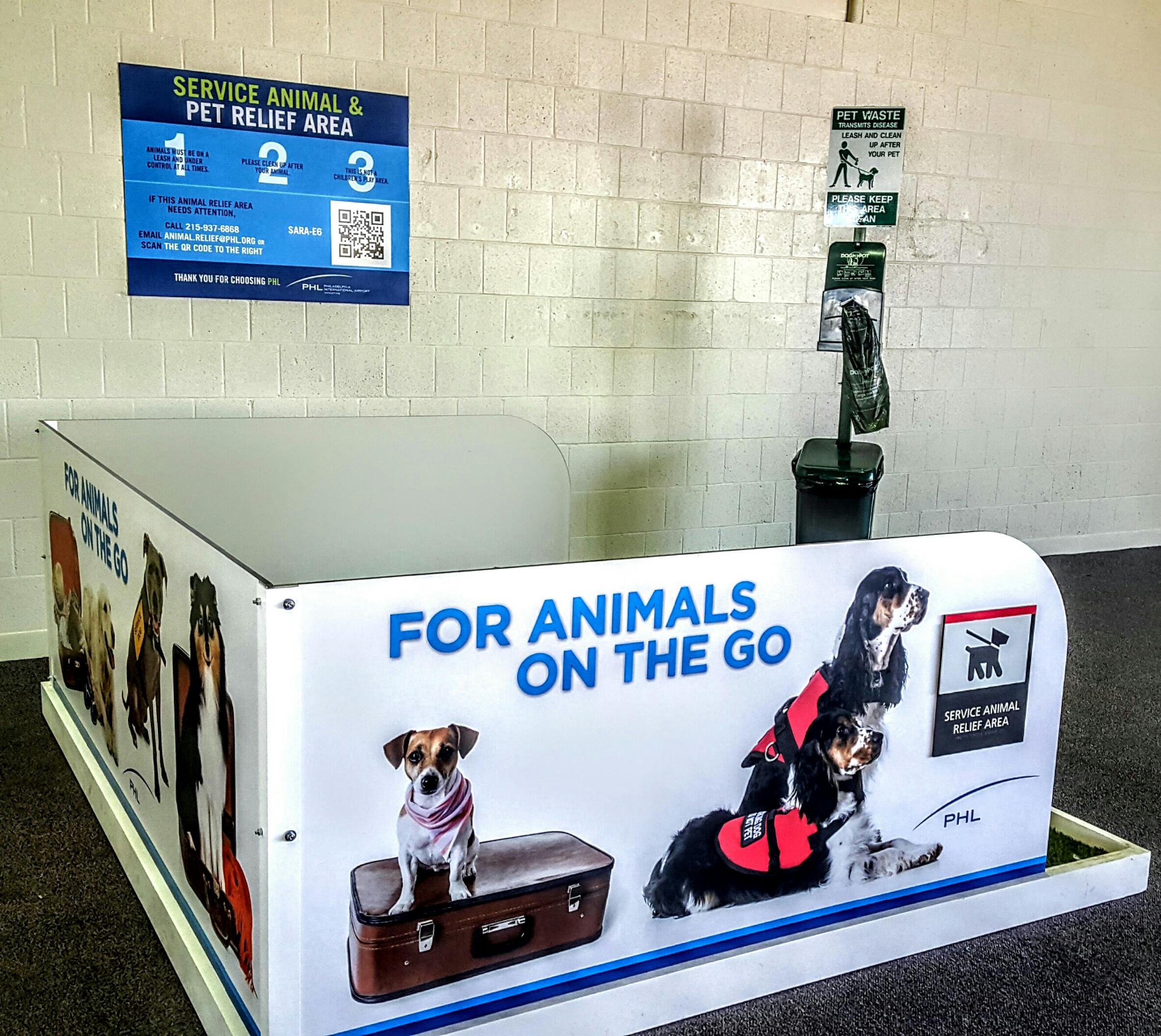 Área de descanso en el aeropuerto de Filadelfia